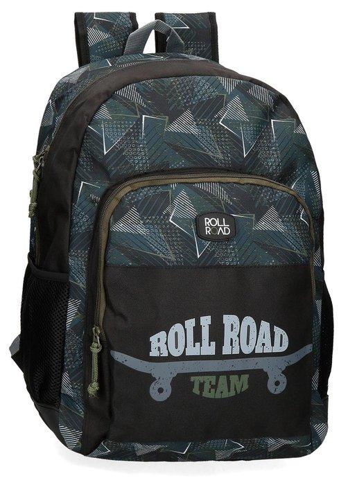Mochila escolar adaptable roll road team