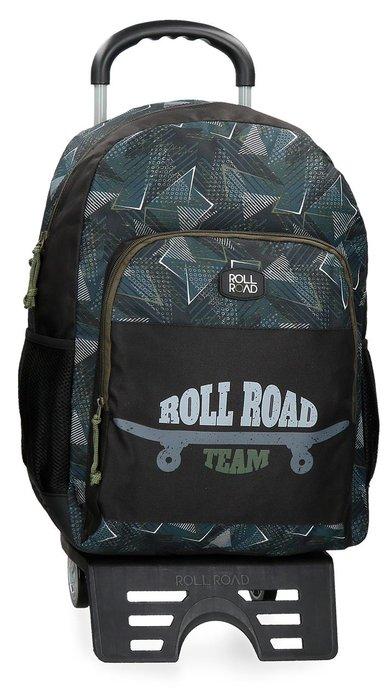 Mochila escolar con carro roll road team