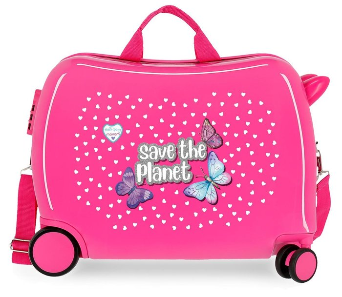 Maleta infantil movom save the planet fucsia