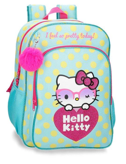 Mochila escolar hello kitty pretty glasses adaptable a carro