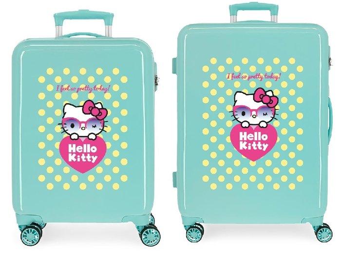 Juego de maletas hello kitty pretty glasses rigidas 55-68cm