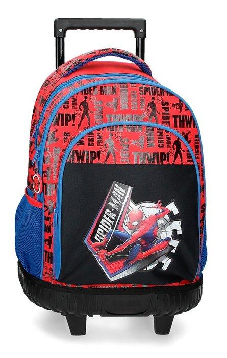 Mochila con ruedas spiderman great power 2r