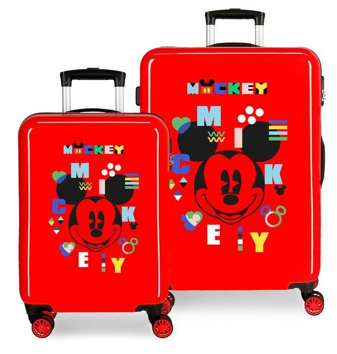Juego de maletas mickey shape shifter rigidas 55-68cm rojo