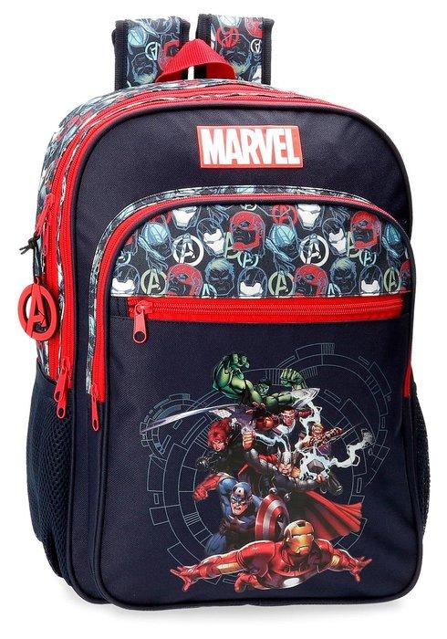 Mochila escolar avengers team dos compartimentos adaptable
