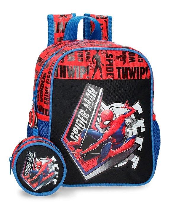 Mochila guarderia con monedero spiderman great power