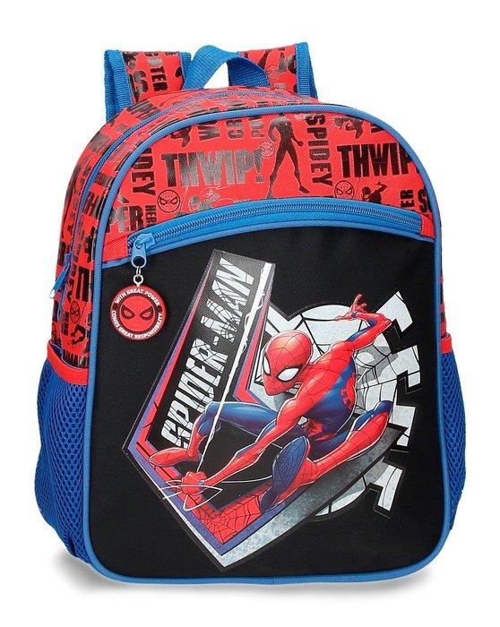 Mochila spiderman great power 33cm adaptable