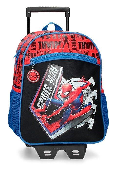 Mochila spiderman great power 33cm con carro