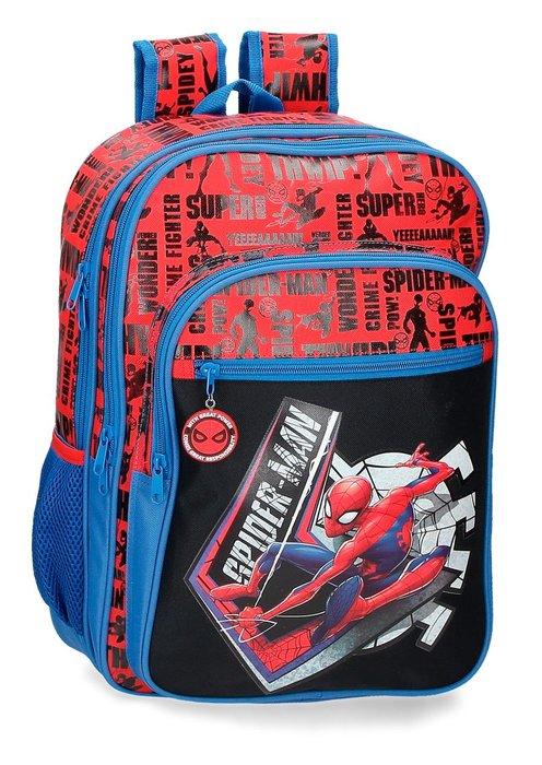 Mochila escolar spiderman great power 42cm dos compartimento