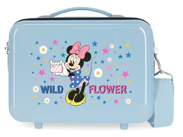 Neceser rigido minnie wild flower adaptable azul