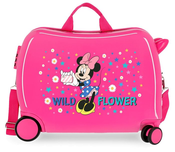 Maleta infantil disney minnie wild flower con 2 ruedas multi