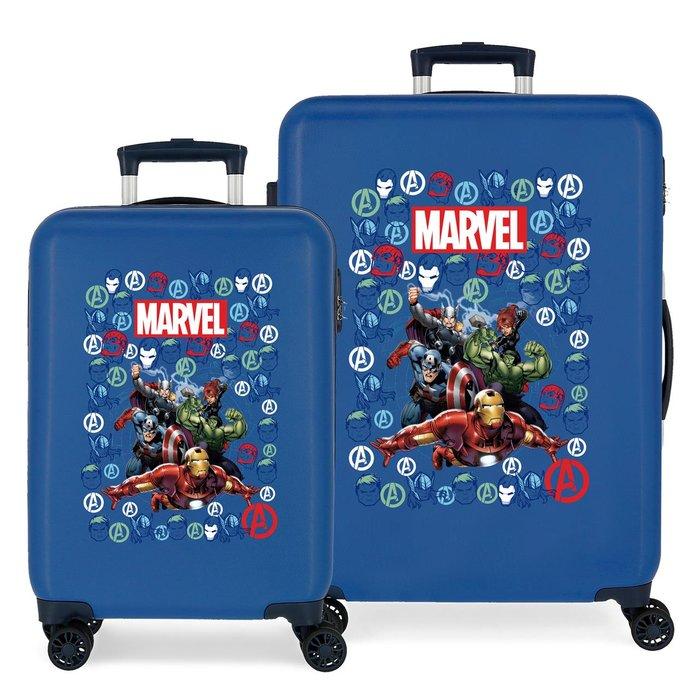 Juego de maletas avengers team rigidas 55-68cm azul