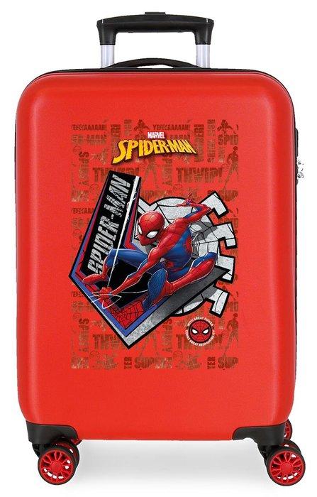 Maleta de cabina spiderman great power rigida 55cm rojo
