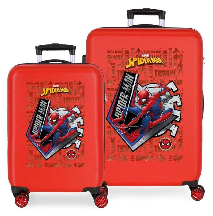 Juego de maletas spiderman great power rigidas 55-68cm rojo