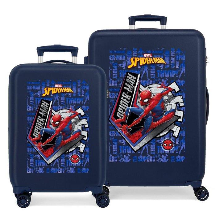 Juego de maletas spiderman great power rigidas 55-68cm marin