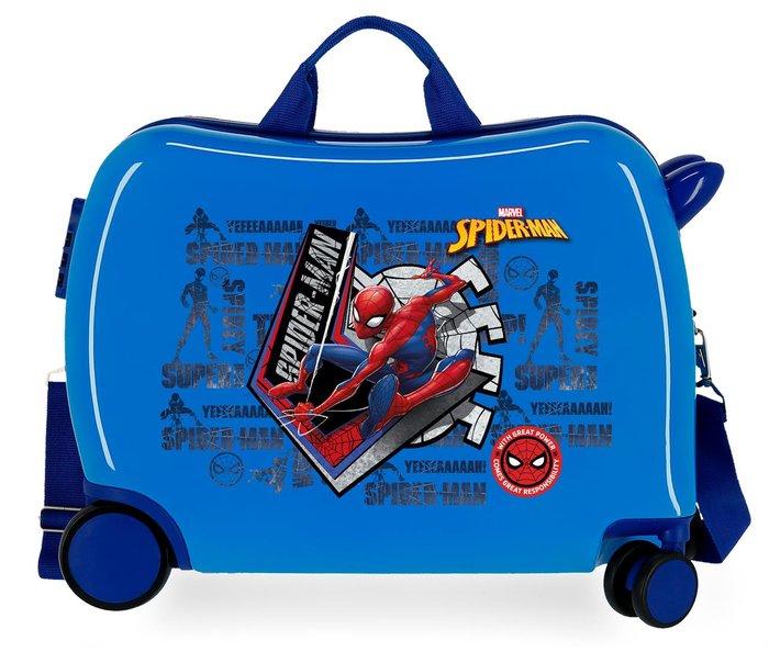 Maleta infantil spiderman great power 2 ruedas multidireccio