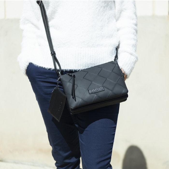 Bolso bandolera lois jeans edziza negro