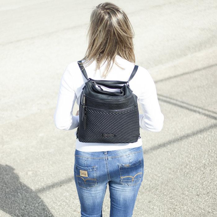 Bolso mochila 3 posiciones lois jeans silverthrone negro