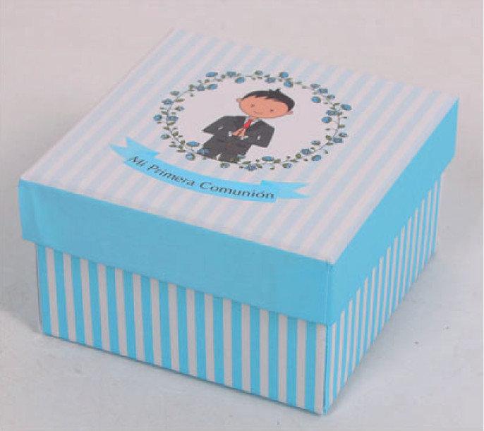 Cajita carton comunion niÑo