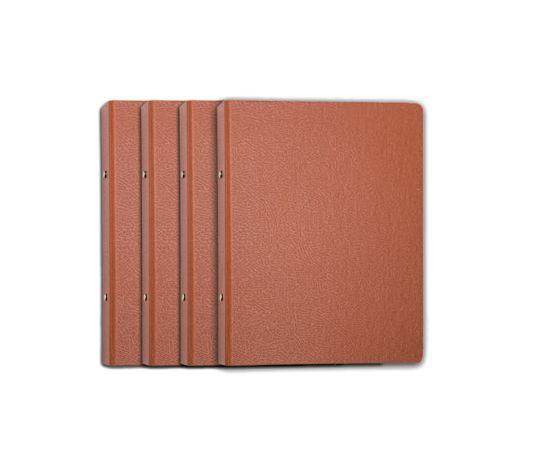 Carpeta folio 4 anillas 40mm carton gofrado nº 12 cuero