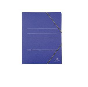 Carpeta folio gomas solapas carton azul