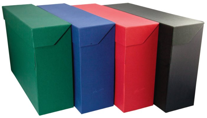 Caja transferencia folio carton forrado geltex verde