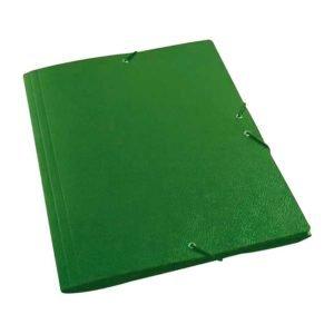 Carpeta dibujo a3 carton gofrado goma sencilla verde