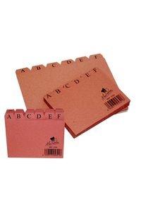 Indice ficheros carton nº3 cuero a-z 150x100mm