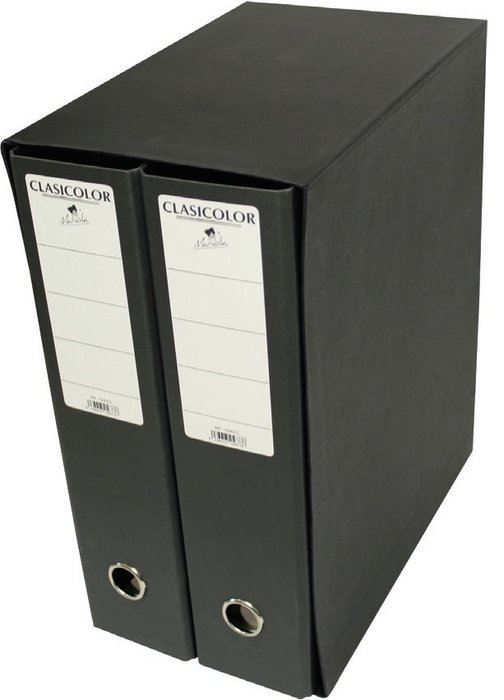 Modulo carpeta geltex 2 archivadores negro