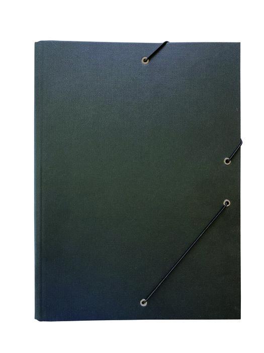 Carpeta clasificadora carton forrado negro