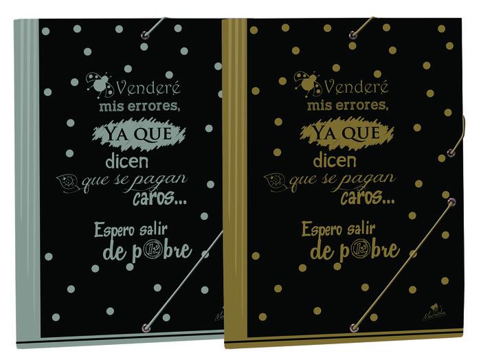Carpeta folio gomas solapas serie insti colores surtidos
