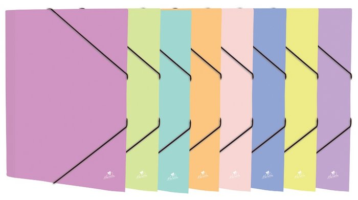 Carpeta mariola folio goma solapa pastel surtidas