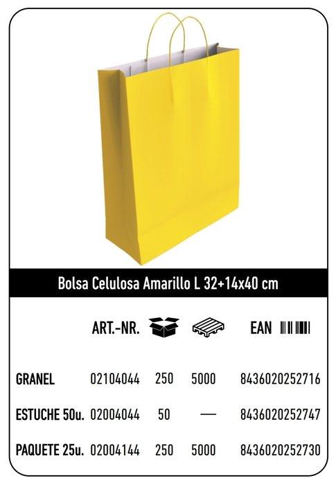 Bolsa celulosa l 32+14x40 amarillo