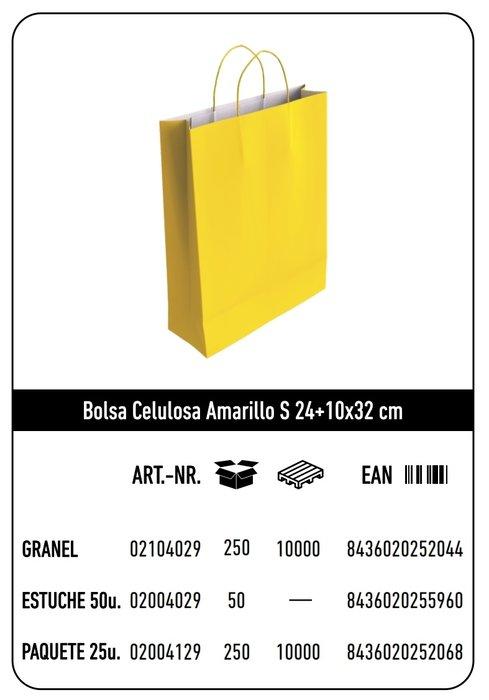 Bolsa celulosa s 24+10x32 amarillo