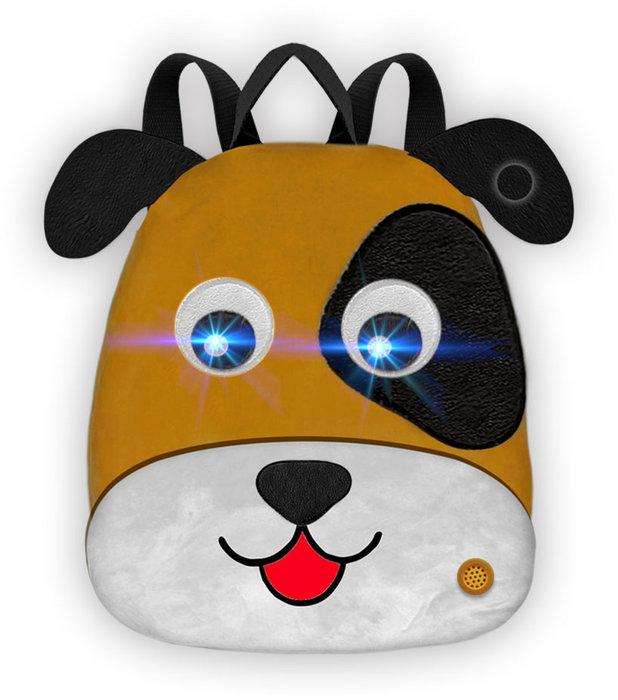 Mochila infantil perrito con luz y sonido 25 x 30 x 10 cm