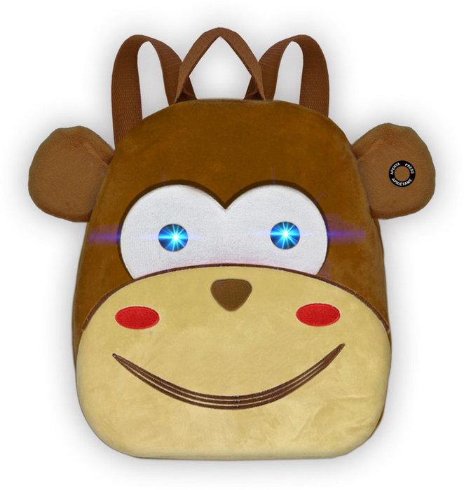 Mochila infantil mono con luz y sonido 25 x 30 x 10 cm