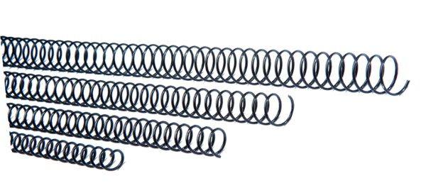 Espiral metalica 5.1 10 mm negro c/100
