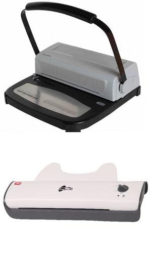 Pack encuadernadora spiral 2010 y plastificadora smart a3