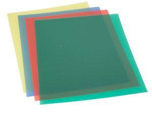 Portada pp 0,45mm a4 transparente rojo p/100