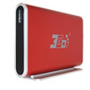 Caja disco duro 3.5o sata-usb aluminio roja