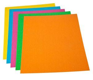 Portada carton gofrado a4 nº 8 1000gr naranja fluor p/50