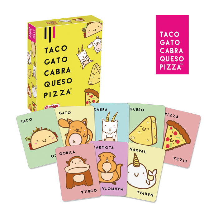 Juego taco gato cabra queso pizza