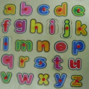 Puzle encajable madera abecedario minusculas