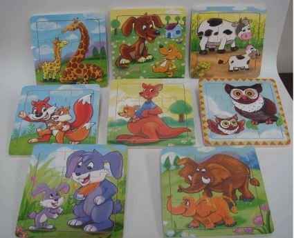 Mini puzzle 9 piezas 6 modelos