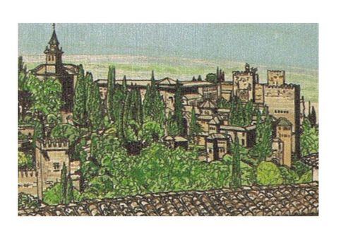 Tarjeta postal vistas alhambra