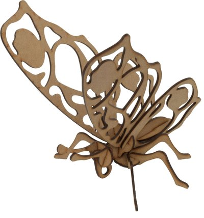 Maqueta mariposa 2 3d pocket 2pl d1