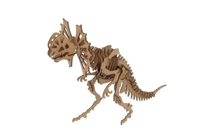 Maqueta dilophosaurus 3d pocket 3pl d4
