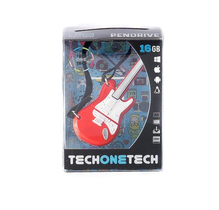 Memoria usb 16 gb pendrive guitarra red one