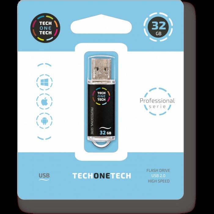 Pendrive negro pro tech pendrive 32 gb
