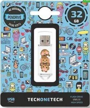 Pendrive emojitech no-evil monkey 32 gb