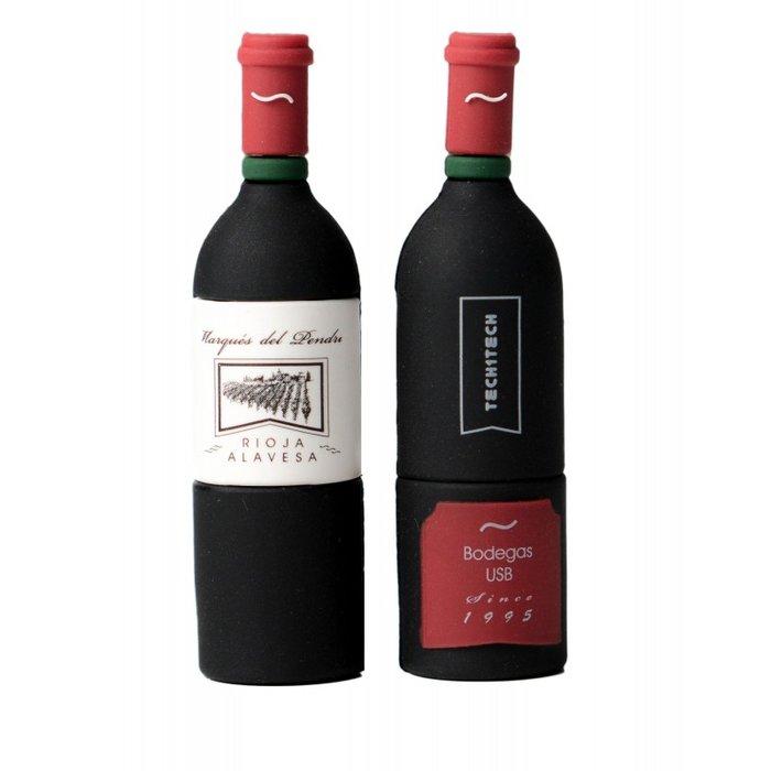 Pendrive botella vino marques 32 gb